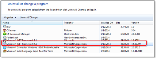 Uninstall the .NET Framework From your PC