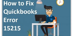 How to Resolve Quickbooks error #15215 [Fixation Guide]
