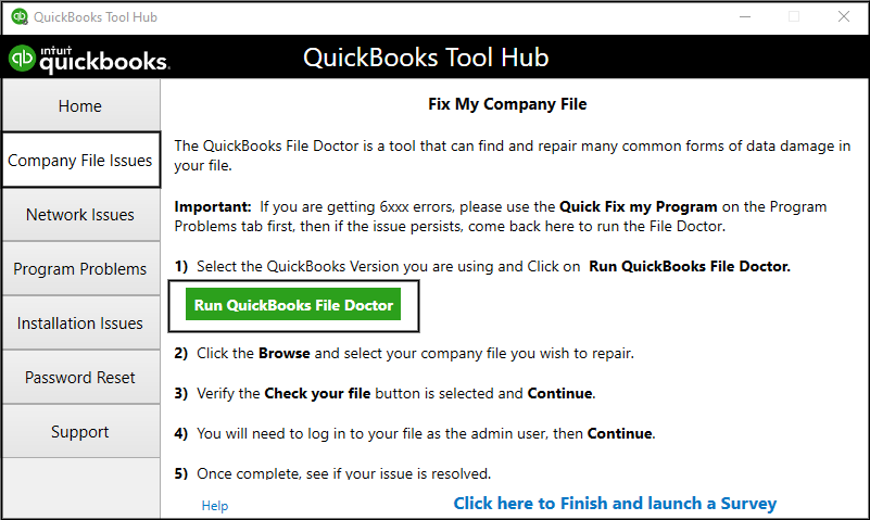 quickbooks error 6123 resolve
