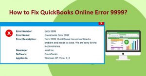A Guide to Resolve Quickbooks Online Error 9999