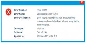 quickbooks error #15215