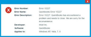 Quick Ways to Resolve Quickbooks Update Error 15227