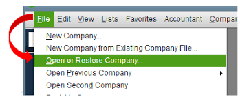 how to create a portable company file in QuickBooks